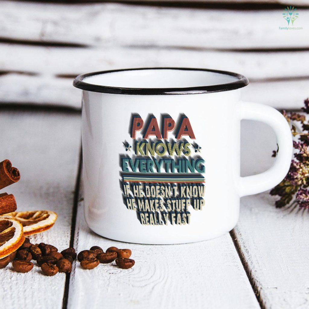 Vintage Papa Know Everything Father's Day Mug Familyloves.com
