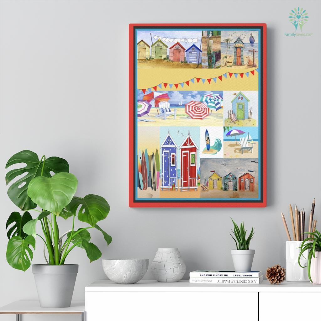 Beach Huts Canvas Familyloves.com