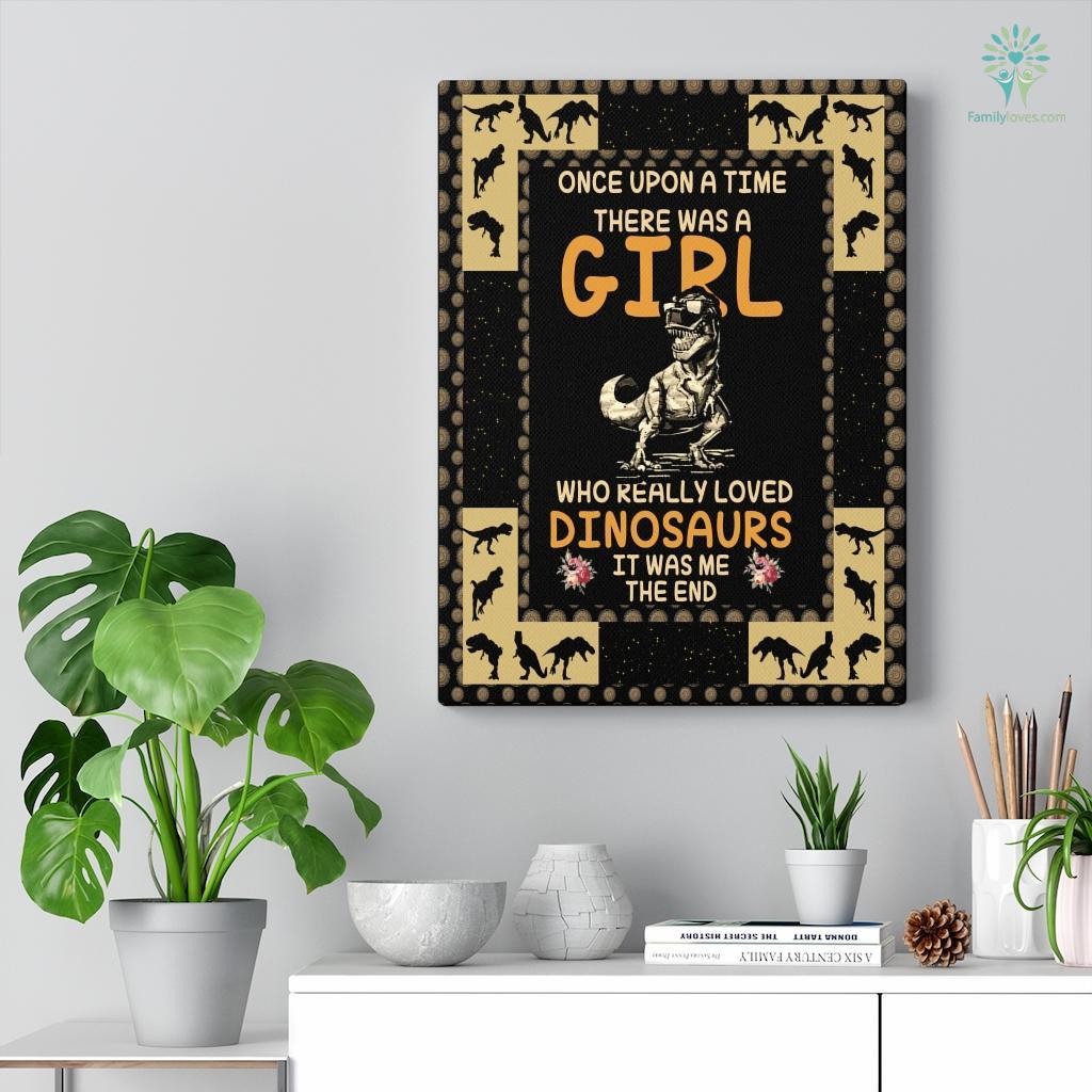 Dinosaur Girl Canvas Familyloves.com