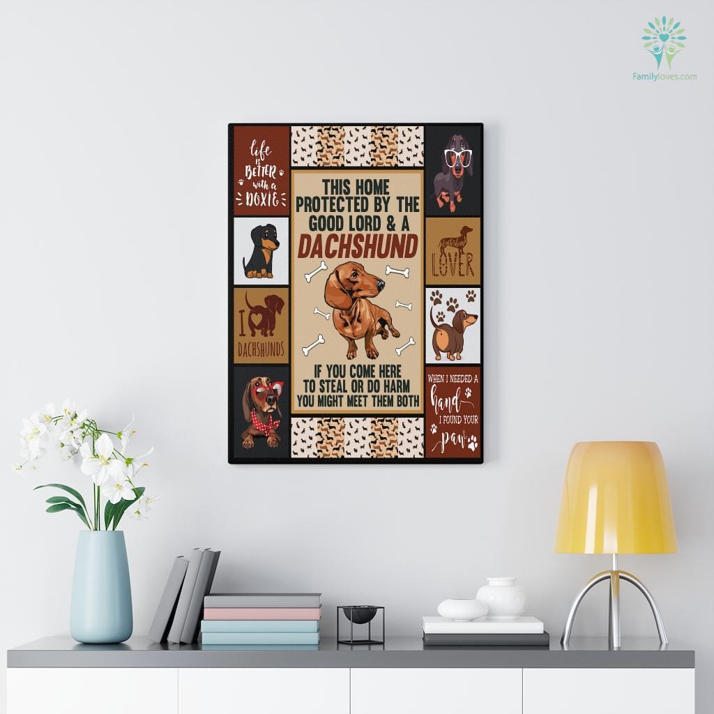 Dachshund 5 Canvas Familyloves.com