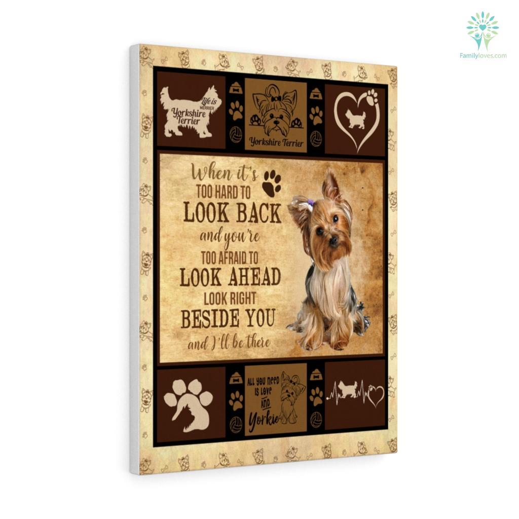 Dog Yorkie Edition D Canvas Familyloves.com