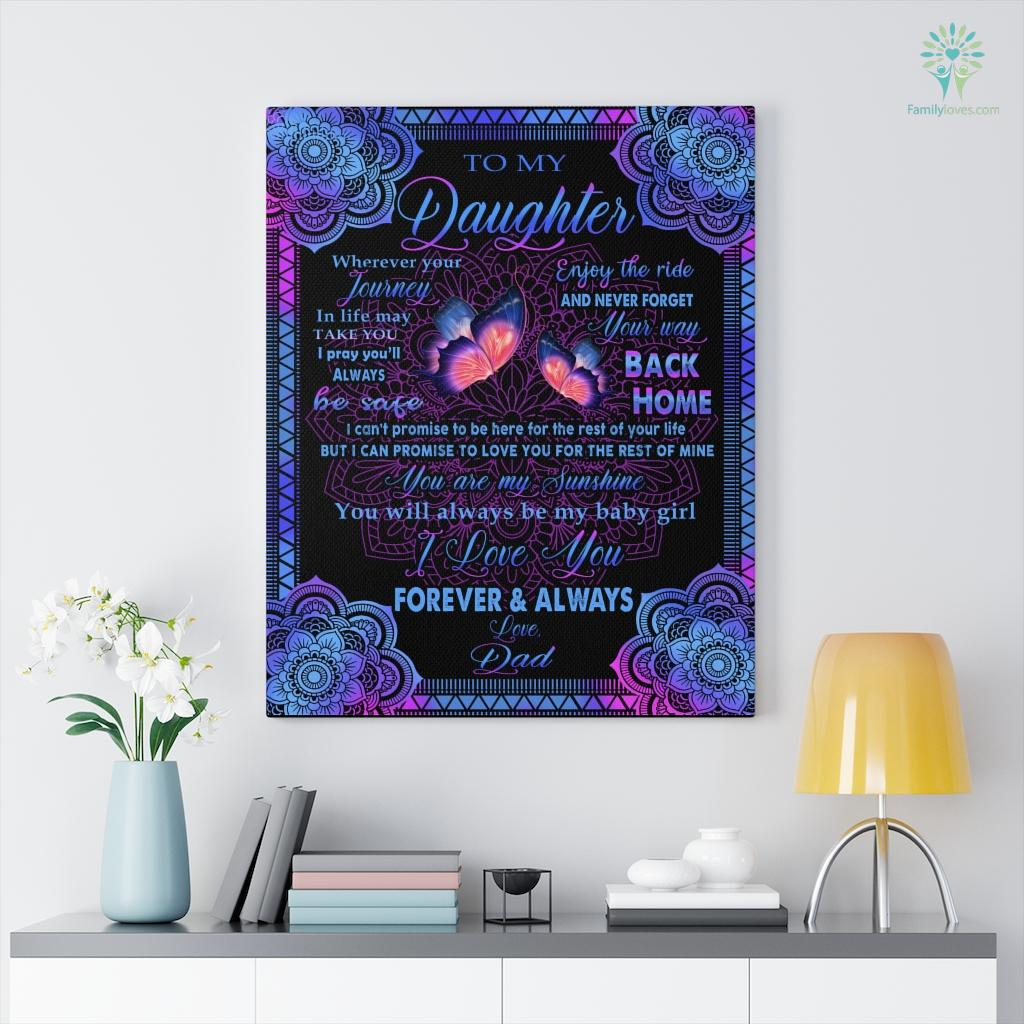 Butterfly D I Love You Forever And Always To My Daughter Canvas Familyloves.com