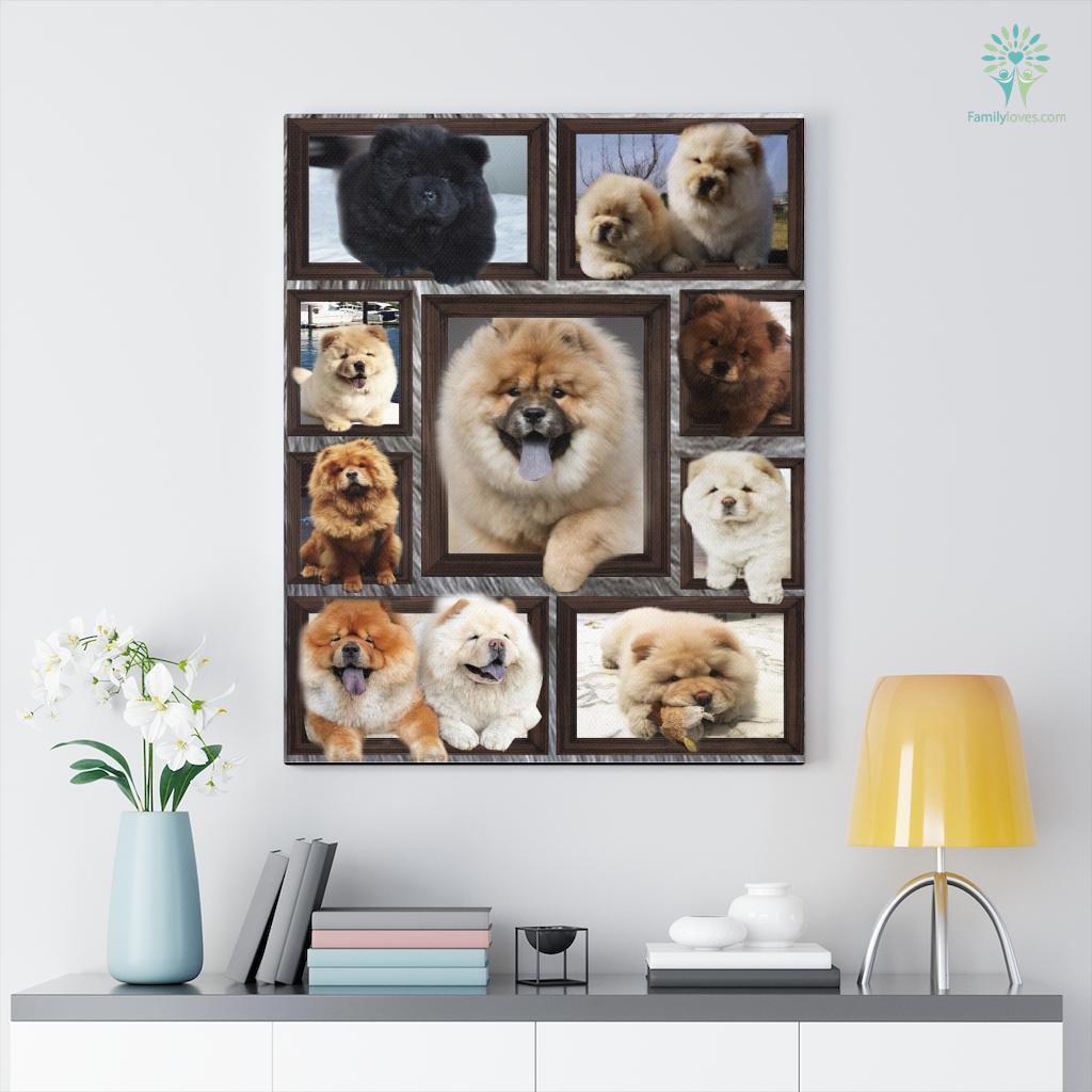 Chow Chow Bl Canvas Familyloves.com