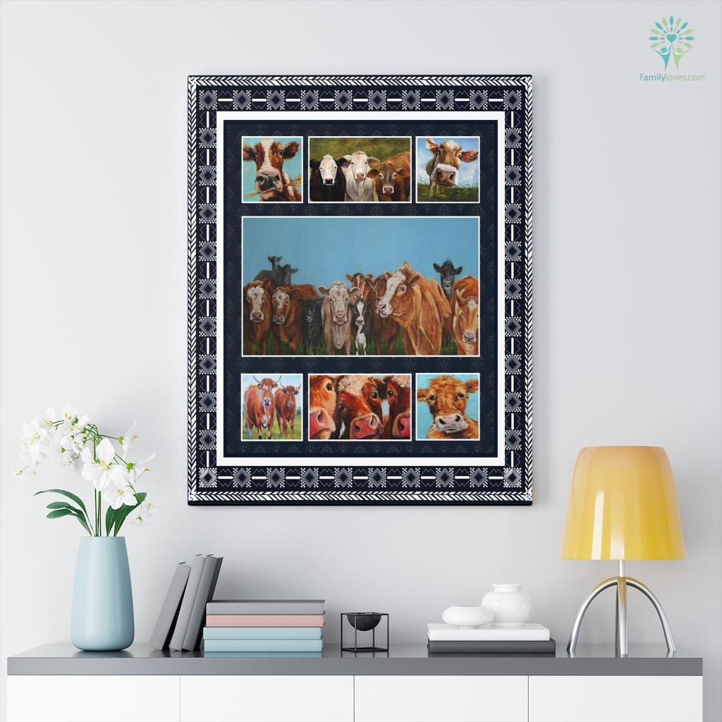Cow Puc Canvas Familyloves.com