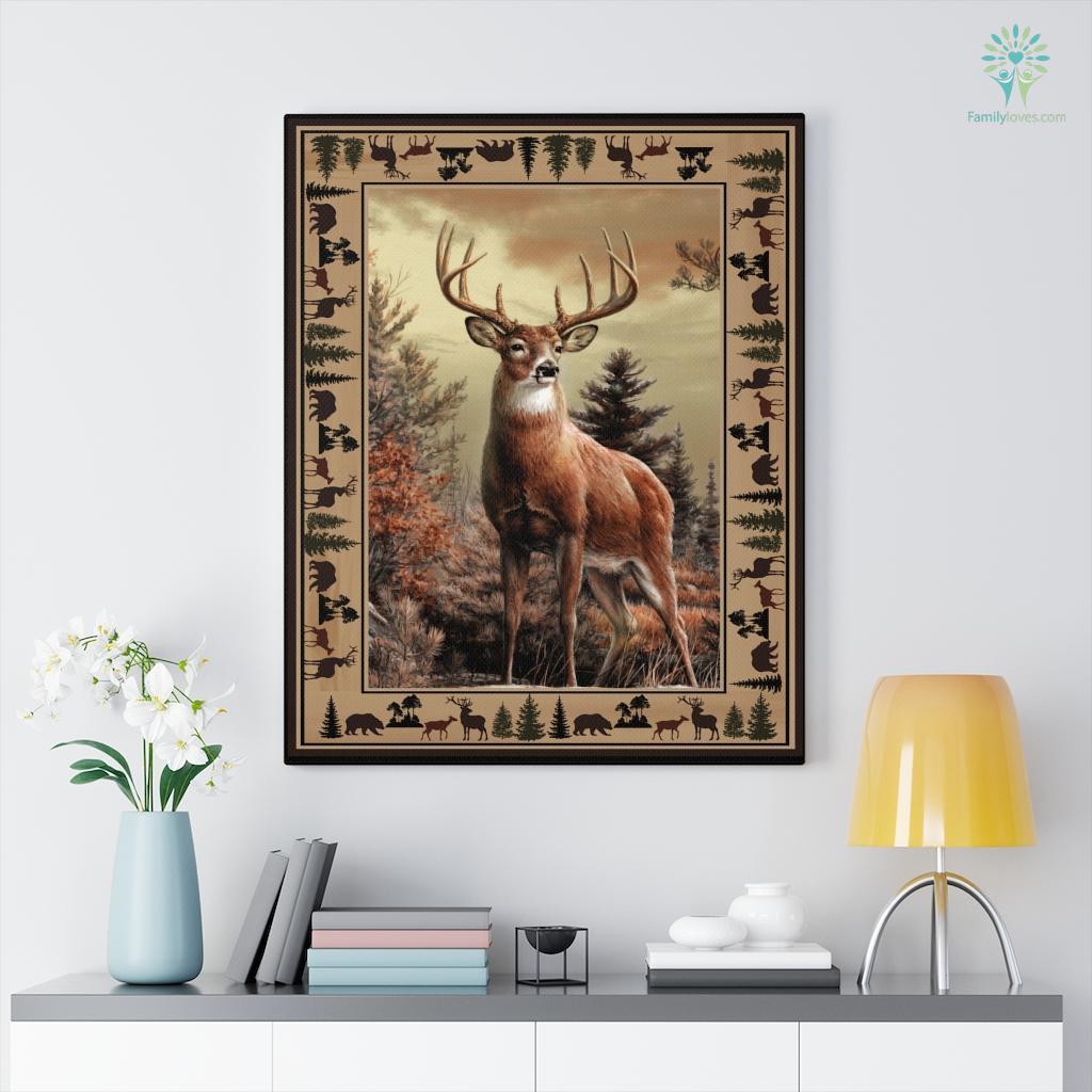 Deer Th Canvas Familyloves.com