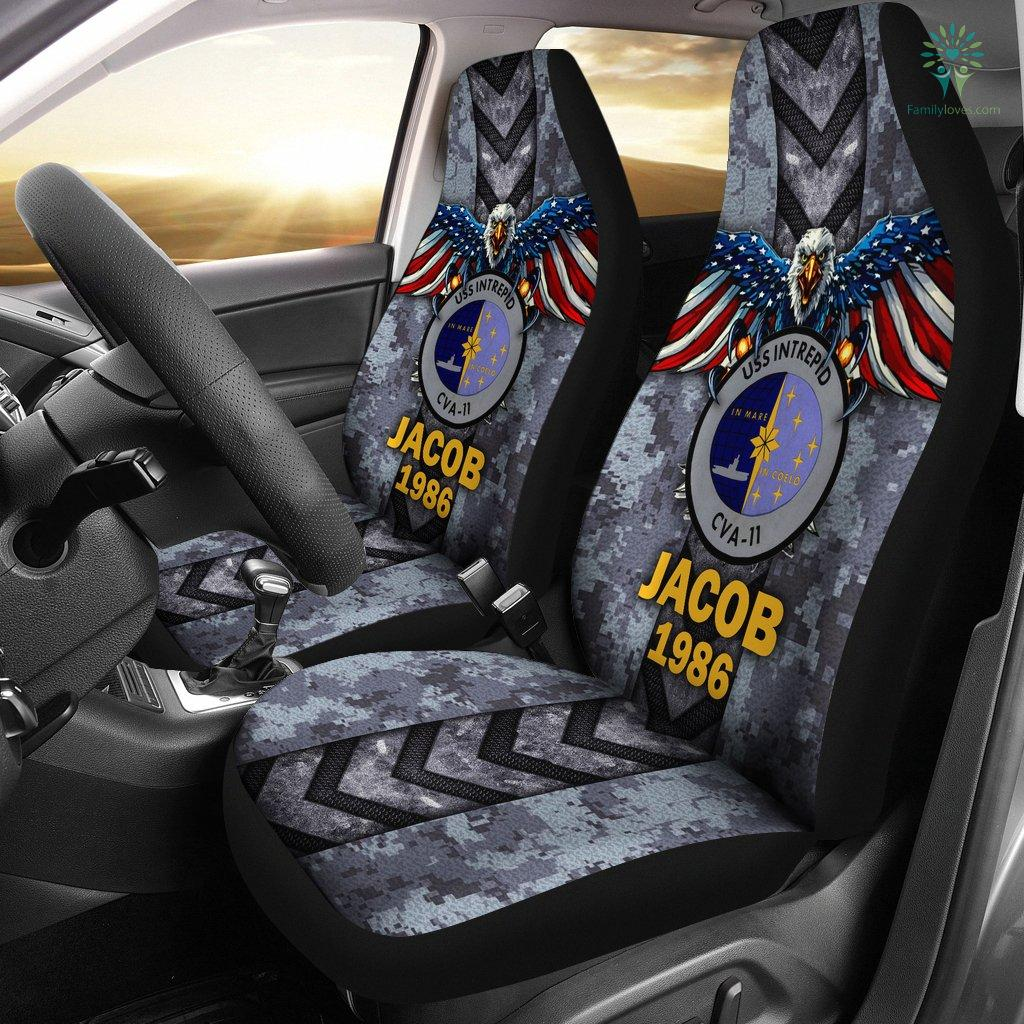 Personalized Car Seat Covers, US Military Units, USS Intrepid Car Seat Cover Familyloves.com