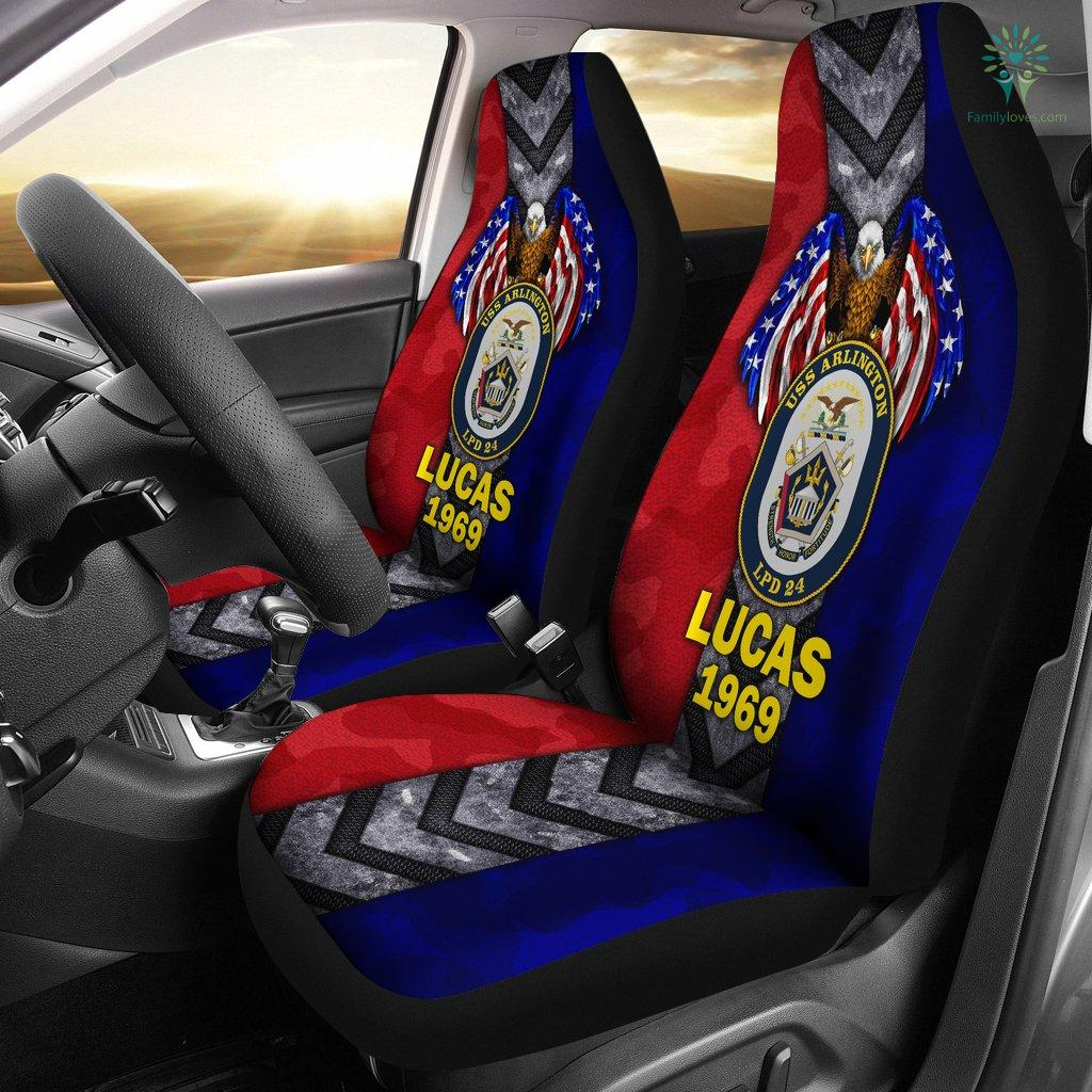 Personalized Car Seat Covers, US Military Units, USS Arlington Car Seat Cover Familyloves.com