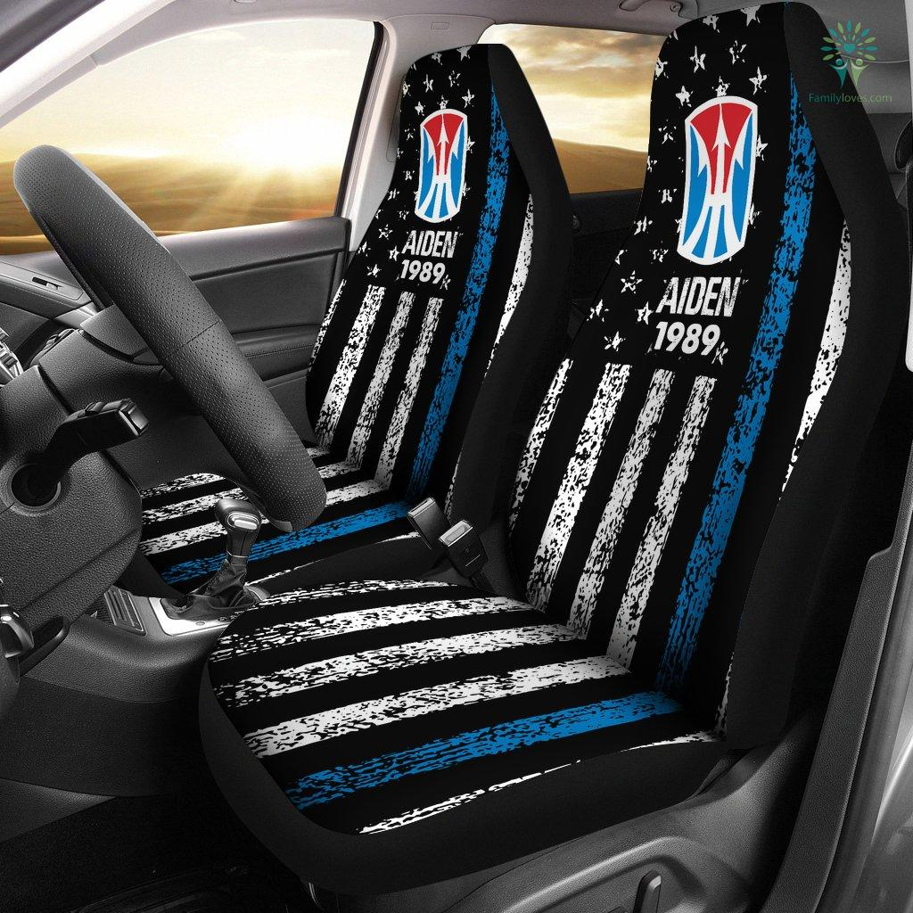 Personalized Car Seat Covers, US Military Units, 11th Light Infantry Brigade Car Seat Cover Familyloves.com