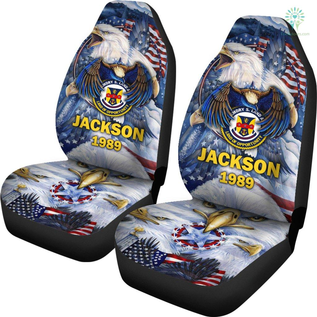 Personalized Car Seat Covers, US Military Units, USS Emory S. Land Car Seat Cover Familyloves.com
