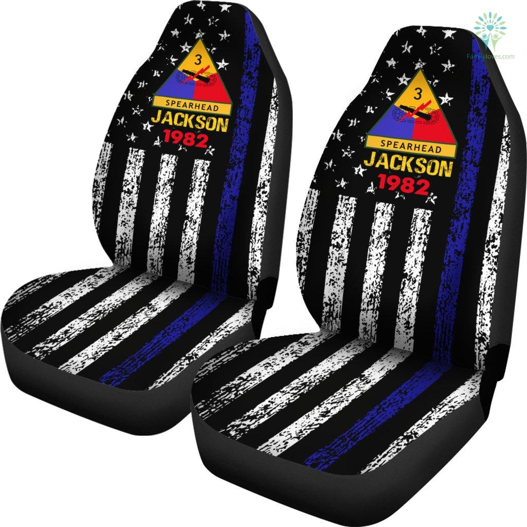 Personalized Car Seat Covers, US Military Units, 3rd Armored Division Car Seat Cover Familyloves.com