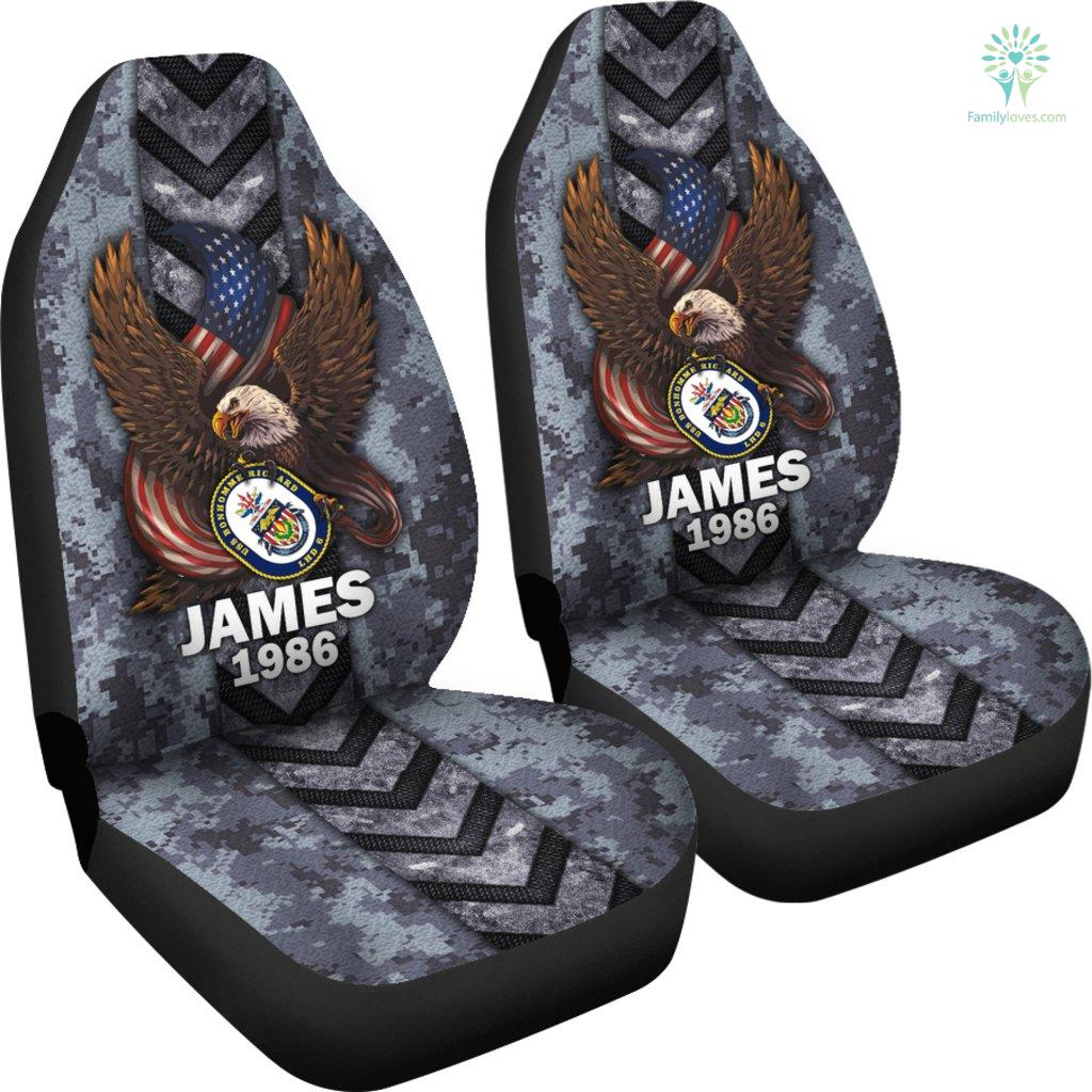 Personalized Car Seat Covers, US Military Units, USS Bonhomme Richard Car Seat Cover Familyloves.com