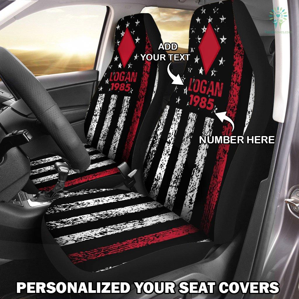 Personalized Car Seat Covers, US Military Units, 5th Infantry Division Car Seat Cover Familyloves.com